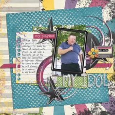 Layout by Natalie using My Tunes Digital Scrapbooking Kit by Simple Girl Scraps