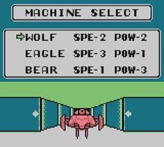 Ray Thunder Select. From the Game Boy Crammer podcast, Episode 16. http://gameboycrammer.com/kirby-pinball-doraemon-raythunder/