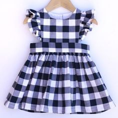 Gingham Pinafore Dress - Pinafore Dress Baby - Pinafore Dress Toddler - Gingham Girls Dress - Navy B Frocks For Girls, Dresses Kids Girl, Kids Outfits, Dress Girl, Robe Pinafore, Baby Girl Dress Patterns, Skirt Patterns, Coat Patterns, Blouse Patterns