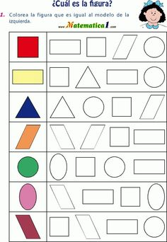 Colorear figura igual al modelo … Printable Preschool Worksheets, Kindergarten Math Worksheets, Preschool Learning Activities, Free Preschool, Kids Learning, Preschool Writing, Free Printable, Numbers Preschool, Math For Kids