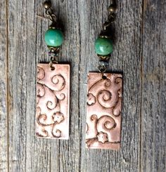 Check out this item in my Etsy shop https://www.etsy.com/listing/294328855/copper-and-green-etched-bohemian