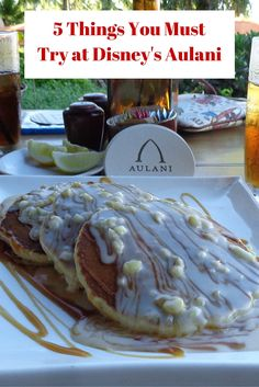 Macadamia Nut Pancakes are a must try at Disney's Aulani Resort & Spa in Hawaii