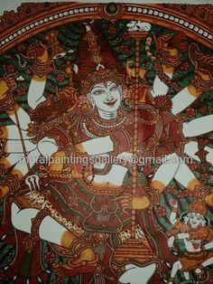 Mayoogha Mural Painting arts gallery is online art gallery-Guruvayoor is an innovative initiative by Mural artist Sastrasarman Prasad. Mural Art, Murals, Kerala Mural Painting, Ganesha, Shiva, Traditional Art, Online Art Gallery, Wall Decor, Paintings