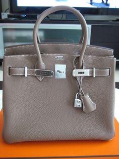 Hermes Birkin Etoupe silver 30