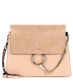 mytheresa.com - Faye leather and suede shoulder bag - Luxury Fashion for Women / Designer clothing, shoes, bags