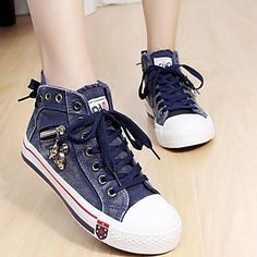 Women's Shoes Comfort Round Toe Flat Heel Canvas Fashion Sneakers Shoes More Colors available – USD $ 19.99