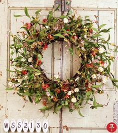 Billowey & Willowy Silk Wreath spring - summer wreath is sure to dress up any front door for the warm weather months. - $69.99 - Powered by Pin2Sell