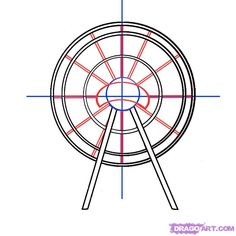 how to draw a ferris wheel step 3 Halloween Circus, Landscape Steps, Good To See You, Step By Step Drawing, Ferris Wheel, Things To Think About, Drawing Guide, Clip Art, Amusement Parks