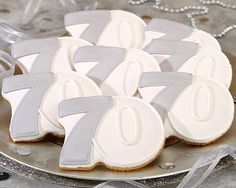 Moms 70th Bday Party Ideas Cookie Gallery