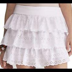 HP 01/24Express skirt Beautiful white eyelet skirt,like new Express Skirts