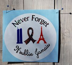 A personal favorite from my Etsy shop https://www.etsy.com/listing/258295859/paris-attacks-us-nyc-support-never