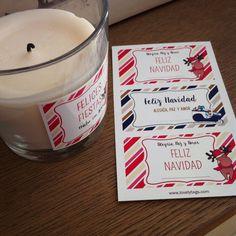etiquetas navideñas personalizadas para decorar los regalos