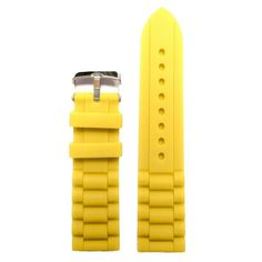 22mm Fresh Yellow Silicone Jelly Rubber Ladies Watch Band Straps WB1002C22JB