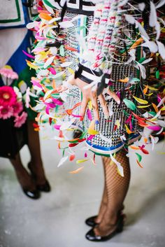 The Prettiest Pics From Fashion Week #refinery29  http://www.refinery29.com/fashion-week-spring-2015-behind-scenes#slide36  A flutter of feathers at Thom Browne.
