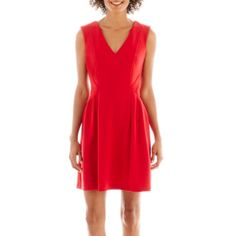 Worthington® Sleeveless Fit-and-Flare Dress  found at @JCPenney