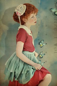 In a Norwegian fairy tale, Jumina, photographed by Wanda Kujacz Red Hair Little Girl, Dream Pictures, Kids Fashion Photography, Portrait Photography, Quirky Fashion, Inspiration Mode, Halloween Disfraces, Fine Art Photo, Young Fashion