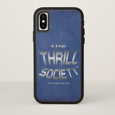 The Thrill Society Logo Squeezed Design iPhone X Case Custom Brandable Electronics Gifts for your buniness #electronics #logo #brand