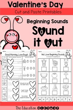Beginning Sounds for Valentine's Day week for your little love bugs. The Education Highway.