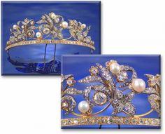 Pearl and Diamond Tiara Comb, c1840 (Sotheby's)