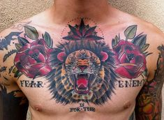 best traditional lion tattoo