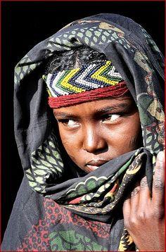 Ethiopia . A shy girl!