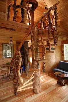 Inside treehouse