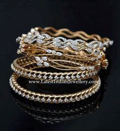 Indian Diamond Bangles Collection