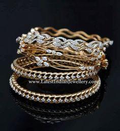 diamond bangles indian | Indian Diamond Bangles Collection