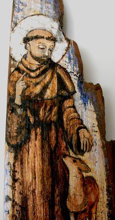 Saint Francis Original Rustic Barn Wood Retablo by Art4thesoul, $100.00
