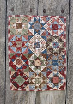 """Quilt # 9 13"""" x 17""""   sold...half square triangles and quarter square triangles"""