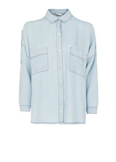 MANGO - Oversized denim shirt