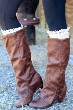Bella Button Detail Slouch Boots