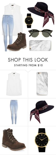 """""""Untitled #97"""" by theblueraider ❤ liked on Polyvore featuring DKNY, H&M, Timberland, Larsson & Jennings and Ray-Ban"""
