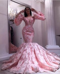pink evening dresses long luxury embroidery appliqué mermaid flare sleeve elegant evening gown for women Source by jksvshusuacmylejk Kleider Pink Evening Dress, Evening Gowns, Mermaid Evening Gown, African Fashion Dresses, African Dress, Mermaid Dresses, Prom Dresses, Luxury Dress, The Dress