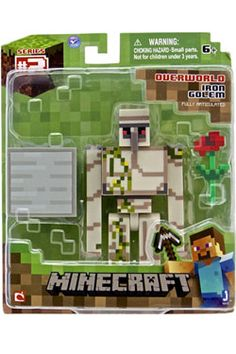 Minecraft Iron Golem Action Figure Bring home one of Minecraft's utility mobs, the Iron Golem! Protect the villagers from the hostile mobs with this action Minecraft Iron, Minecraft Toys, Minecraft Creations, Minecraft Party, Minecraft Stuff, Minecraft Crafts, Toy Art, Toys For Boys, Kids Toys