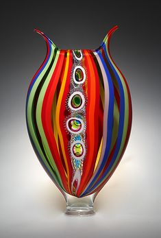 Jazz Foglio ~David Patchen Art Glass Sculpture available at www.artfulhome.com