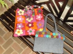 Felt purses are a convenient size and can hold a little bit of everything.