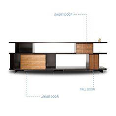 tv aux and books. front lounge  or kitchen bookshelves (go taller too)  BLU DOTshilf modern shelving - door kits - walnut 3