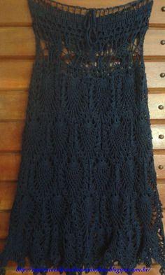With charts crochet dress/skirt-  Inspirações de Croche com Any Lucy: Saia: Minha Autoria