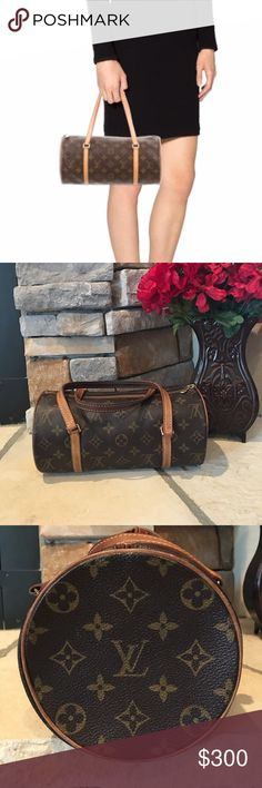 "Louis Vuitton Papillon 26 This bag is in beautiful condition. My first LV. Unfortunately it's just to small for my everyday use. It's just sitting in my closet. No dust bag, 100% Authentic. No stains or rips. Handles have turned as they naturally would but are in great shape.  Measurements are 10.5 wide, 5 1/4 in height. 5"" in depth and a 8"" handle drop. Please view all pics. Ask any questions. Bags Mini Bags"