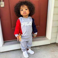 Mixed Baby Boy, Cute Mixed Babies, Cute Black Babies, Beautiful Black Babies, Black Baby Girls, Cute Baby Girl, Black Kids, Little Black Boys, Little Boy Swag