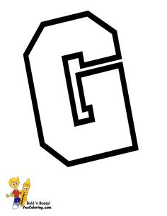 Free Coloring Of Sports Alphabet G At Yes