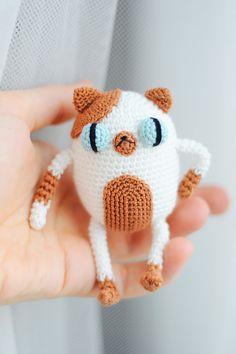 Crochet amigurumi Cake the cat doll pattern chart por yorbashideout