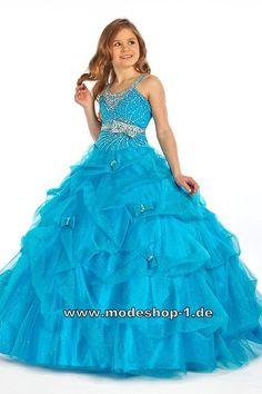 A Linie Abendkleid Ballkleid für Mädchen in Blau  www.modeshop-1.de