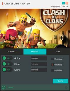 clash of clans mod (unlimited gems gold coins...)