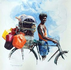 """Indian Watercolor Artist- """"Rajkumar Sthabathy"""" 1975 - Fine Art and You - Painting Watercolor Paintings For Beginners, Realistic Paintings, Watercolor Artists, Watercolor Portraits, Art And Illustration, Indian Folk Art, Indian Artist, Cherokee Indian Art, Art Du Croquis"""