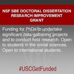 sbe doctoral dissertation research improvement grants (sbe ddrig)