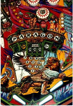 I actually own this game but it doesn't work any more :( Still considered by many pinheads to have the most beautiful artwork ever. First Wide Body game by Bally.