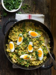 Kedgeree: Curried Rice, Smoked Fish, & Boiled Eggs
