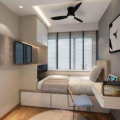 59 minimalist bedroom design ideas that looks more cool 32 Bedroom Setup, Room Design Bedroom, Small Bedroom Designs, Small Room Design, Home Room Design, Small Room Bedroom, Bed Design, Home Bedroom, Home Interior Design